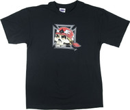 PZ38 Pizz Iron Cross Skull T Shirt