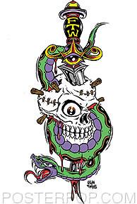 Forbes Skull N Snake Sticker Image