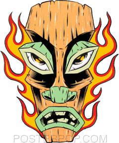 Forbes Flaming Tiki Sticker Image