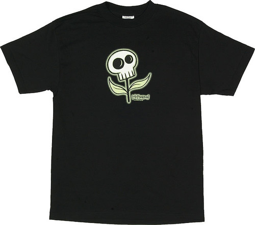 TM09 McPherson Skull Flower T Shirt