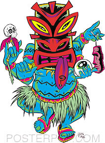 Forbes Tripping Tiki Sticker Image