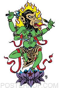 Forbes Monkey Krishna Sticker Image