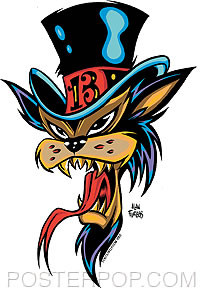 Forbes Top Hat Cat Sticker Image