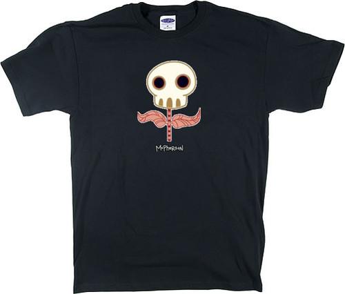 TM12 McPherson Sugar Skull Flower T Shirt