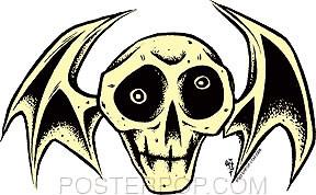 Forbes Skull Bat Sticker Image