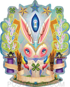 Aaron Marshall Magic Jackalope Sticker Image
