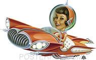 Aaron Marshall Flying Car Sticker