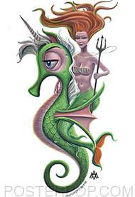 Aaron Marshall Mermaid Queen Sticker Image