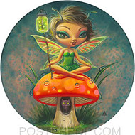 Aaron Marshall Green Fairie Sticker Image