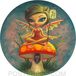 Aaron Marshall Red Fairie Sticker Image