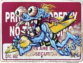 BigToe No Trespassing Sticker Image