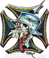 BigToe Skull Cross Sticker Image
