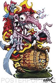 BigToe Rum Pirate Sticker Image