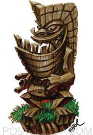BigToe Haole Ku Tiki Sticker Image