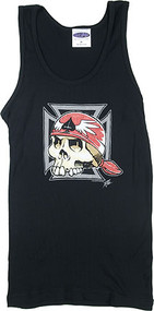 Pizz Iron Cross Skull Boy Beater Image
