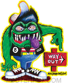 Von Strawn Way Out Sticker Image
