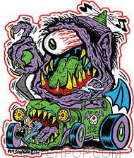 Von Strawn Purple People Eater Sticker Image