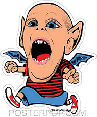 Von Strawn Bat Kid Sticker Image