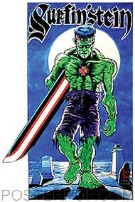 Von Strawn Surfin-Stein Sticker