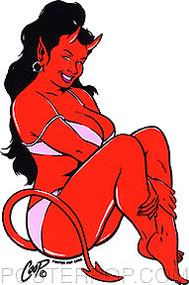 Coop Bikini Devil Girl Sticker Image