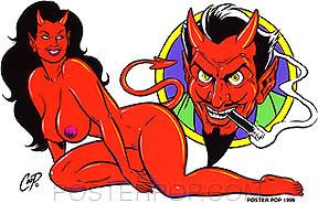 Coop Devil Success Sticker Image