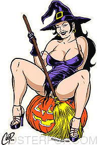 Coop Witchy-Poo Sticker Image