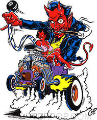 Coop Hot Rod Devil Sticker Image