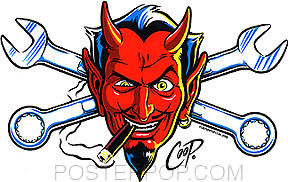 Coop Wrench Devil Sticker Image