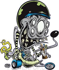 Dirty Donny Saucer Gang Sticker Image