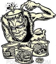 Dirty Donny Brains? Sticker Image