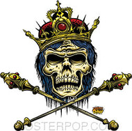 Dirty Donny King Doom Skull Sticker Image