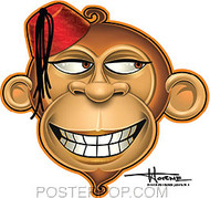 Doug Horne Happy Monkey Sticker Image