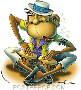 Doug Horne Bongo Monkey Sticker Image
