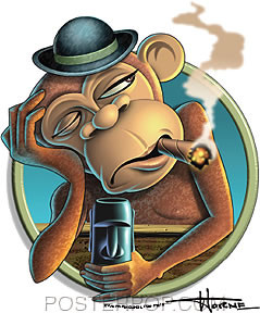 Doug Horne Sad Monkey Sticker Image
