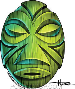 Doug Horne Green Mask Sticker Image