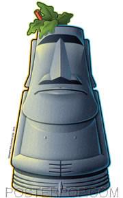 Doug Horne Moai Tiki Mug Sticker Image