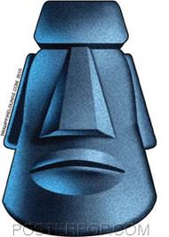 Doug Horne Moai Tiki Sticker Image