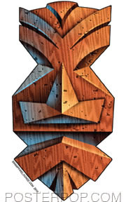 Doug Horne Wood Tiki Sticker Image