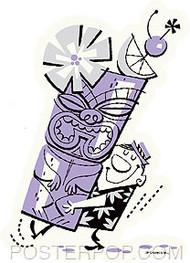 Derek Yaniger Big Tiki Mug Sticker Image