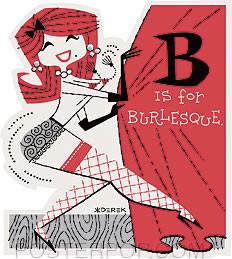 Derek Yaniger B is For Burlesque Sticker Image
