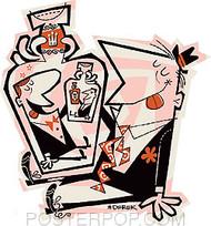 Derek Yaniger 3 Drunks Sticker Image
