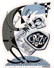 Derek Yaniger Crazy Saxophone Sticker Image