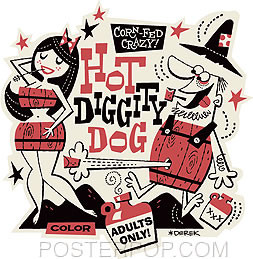 Derek Yaniger Hot Diggity Dog Sticker Image