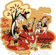 Derek Yaniger Here a Chick Sticker Image