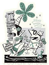 Derek Yaniger No Picking Flowers Sticker Image