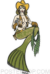 Firehouse Western Mermaid Stickers Image