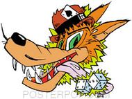 Kozik Lucky Wolf Sticker Image