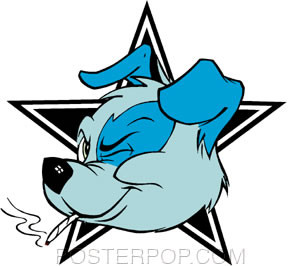 Kozik Star Dog Sticker
