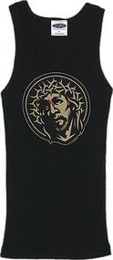 Almera Crown of Thorns Woman's2X1 Ribbed boy Beater Tank Top Clearance