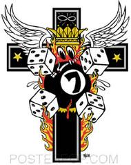 Kozik Emos Cross Sticker Image